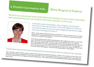Interview with Helen Toogood on www.fruitfulconversations.co.uk